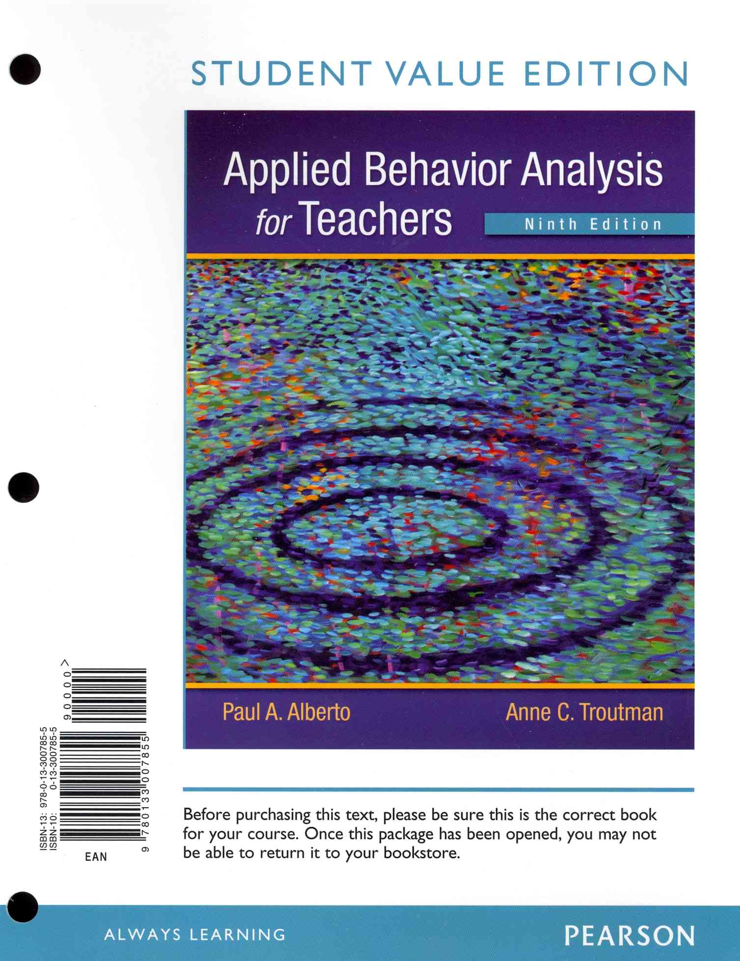 Applied Behavior Analysis for Teachers By Alberto, Paul A./ Troutman, Anne C.